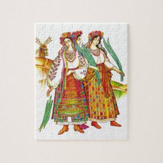 Traditional Ukrainian Dress from Kyivschyna Puzzle