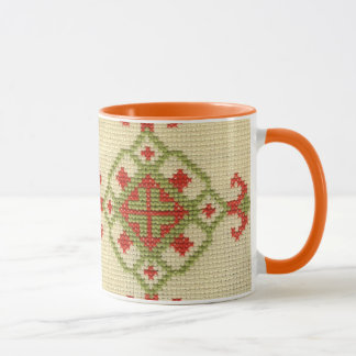 Traditional Ukrainian Embroidery Mug