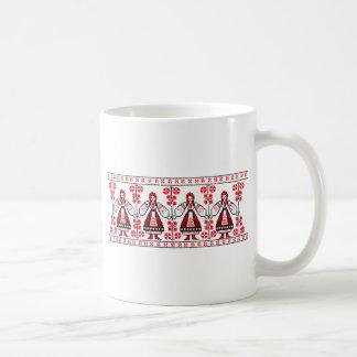Traditional Ukrainian embroidery ukraine girls Classic White Coffee Mug