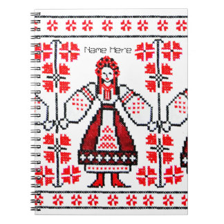 Traditional Ukrainian embroidery ukraine girls Notebook