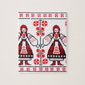 Traditional Ukrainian embroidery ukraine girls Puzzles