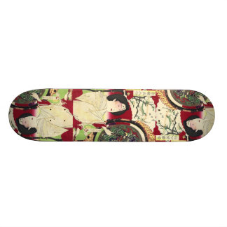 traditional umbrella kimono japanese geisha skateboard