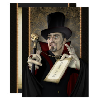 Traditional Vampire Gothic Party Invitations