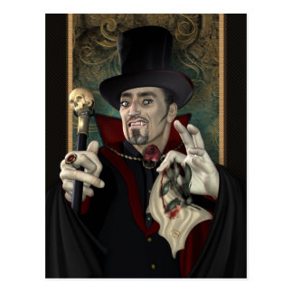 Traditional Vampire Postcard