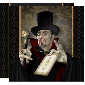 Traditional Vampire Square Party Invitations