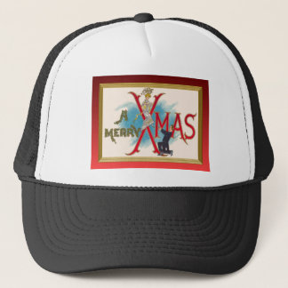 Traditional vintage Christmas Trucker Hat