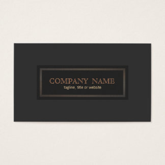 Traditional Vintage Style Classical Entrepreneur Business Card