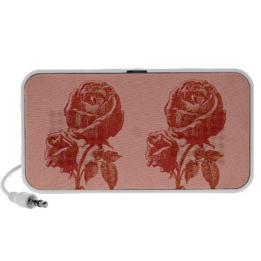 Traditional Vintage Victorian Pink Red Rosebud Art Mini Speaker