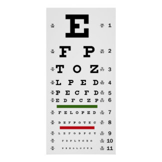 TRADITIONAL VISION TEST CHART POSTER