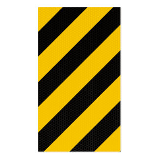 Traditional warning stripe business card