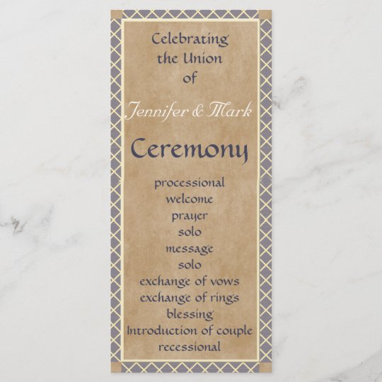 traditional wedding program and wedding party card zazzle com
