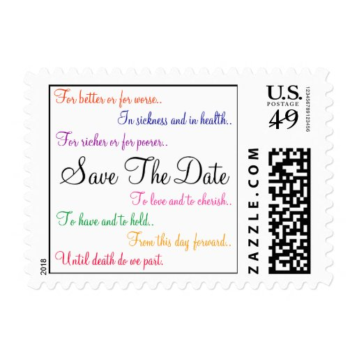 Traditional Wedding Vows Classic Postage Stamp