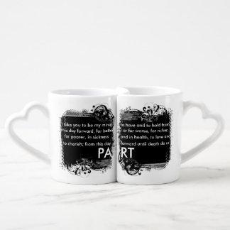 Traditional Wedding Vows Lovers Mug Couples' Coffee Mug Set