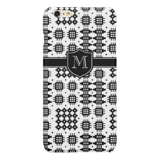 Traditional Welsh Faux Tapestry Black and White Glossy iPhone 6 Plus Case