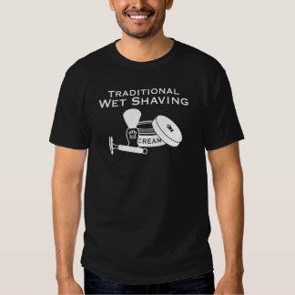 Traditional Wet Shaving, DE Razor - Dark T-shirt