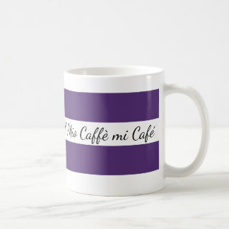 Traditional white cup Bandages purple