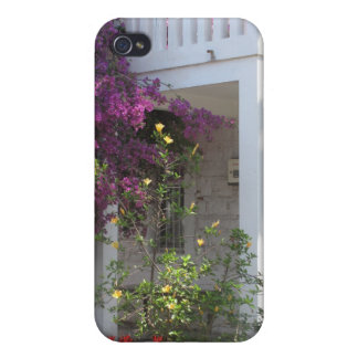 Traditional White House With Bougainvi In Crete iPhone 4/4S Case