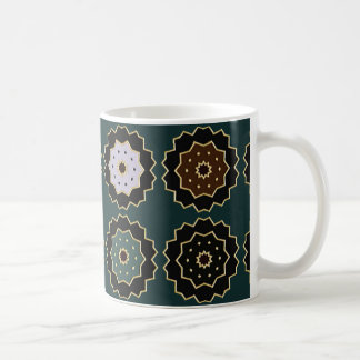 "Traditional white Mug ""Lace on green bottom """