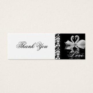 Traditional White Swans Thank You Card