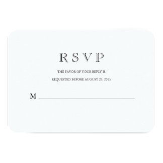 Traditional with a Modern Twist RSVP Response Card