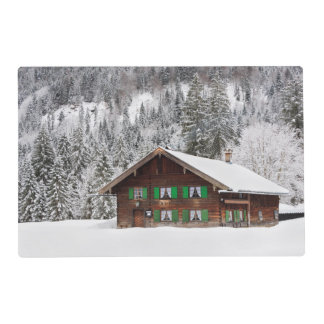 Traditional wooden house in Bavaria placemat