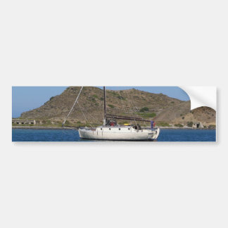 Traditional Wooden Yacht Bumper Stickers