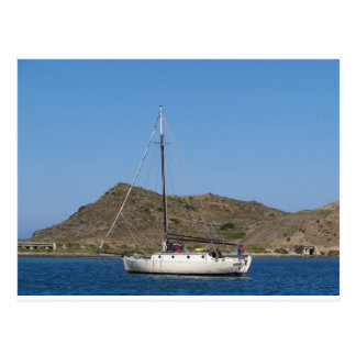 Traditional Wooden Yacht Postcard
