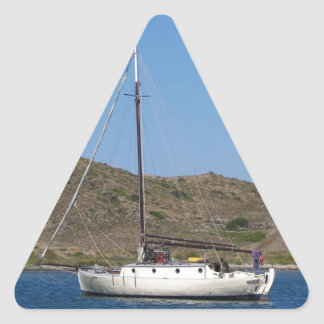Traditional Wooden Yacht Triangle Sticker