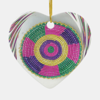 Traditional Woven Plate whirl Ceramic Ornament