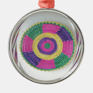 Traditional Woven Plate whirl Metal Ornament