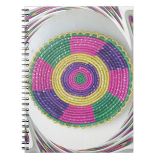 Traditional Woven Plate whirl Notebook