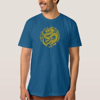 Traditional Yellow Chinese Dragon Circle T-Shirt