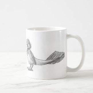 Traditionally-Drawn Reptilian Bird Mug Basic White Mug
