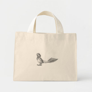 Traditionally-Drawn Reptilian Bird Tote Canvas Bags