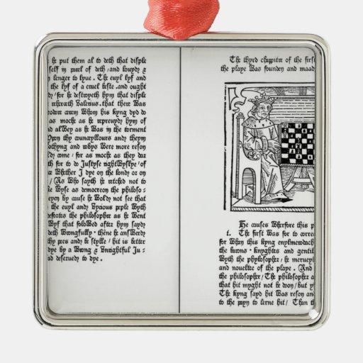 Traducción inglesa de 'De Ludo Saccorum' Ornamento De Navidad