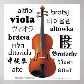 Traducciones de la viola póster