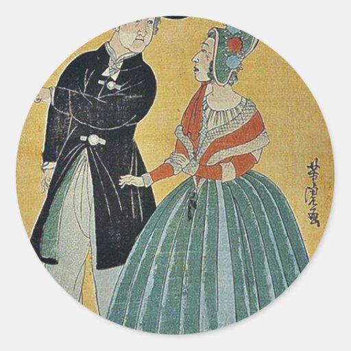 Traducciones por Utagawa, Yoshitora Etiquetas Redondas