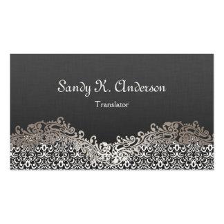 Traductor - cordón elegante del damasco plantillas de tarjetas de visita