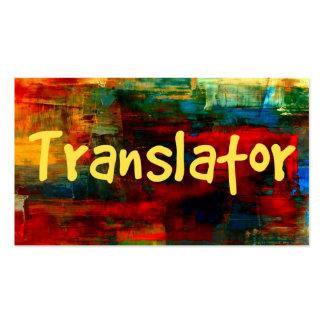Traductor en tarjeta de visita de la pintura