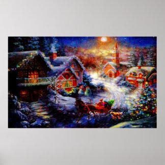 Traer a casa el árbol de navidad póster