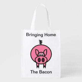 Traer a casa el tocino bolsas para la compra