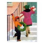 Traer alegría del navidad postal