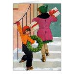 Traer alegría del navidad tarjeta de felicitación
