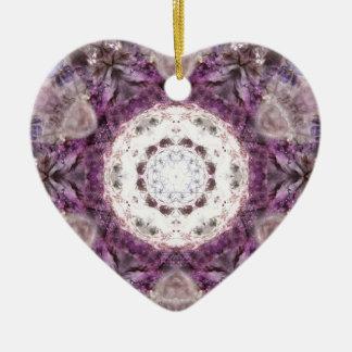 Traer la luz adorno navideño de cerámica en forma de corazón