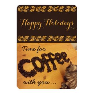 """Traeré la tarjeta del café por RoseWrites Invitación 5"""" X 7"""""""