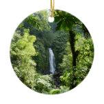 Trafalgar Falls Tropical Rainforest Photography Ceramic Ornament