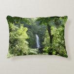 Trafalgar Falls Tropical Rainforest Photography Decorative Pillow