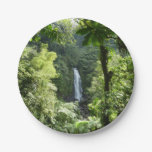 Trafalgar Falls Tropical Rainforest Photography Paper Plate