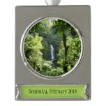 Trafalgar Falls Tropical Rainforest Photography Silver Plated Banner Ornament