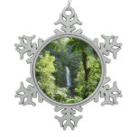 Trafalgar Falls Tropical Rainforest Photography Snowflake Pewter Christmas Ornament